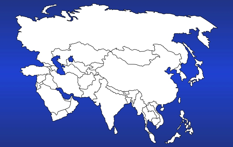 Air Flow Representative Maps: Asia World Map Clickable on