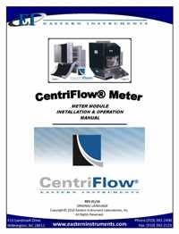 CentriFlow Mechanical Manual