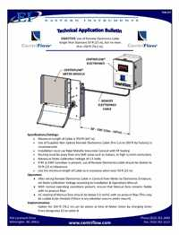 CentriFlow Technical Application Bulletins